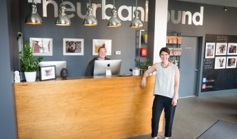 Urban Hound, Owner standing at the front desk
